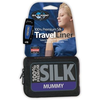 Sea to Summit Premium Silk Liner - Mummy with Hood