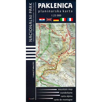 Paklenica National Park mountain map 1:25 000